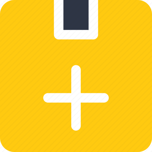 add, box, cargo, freight, package icon, parcel icon