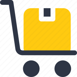 box, delivery, delivery box, dolly icon icon