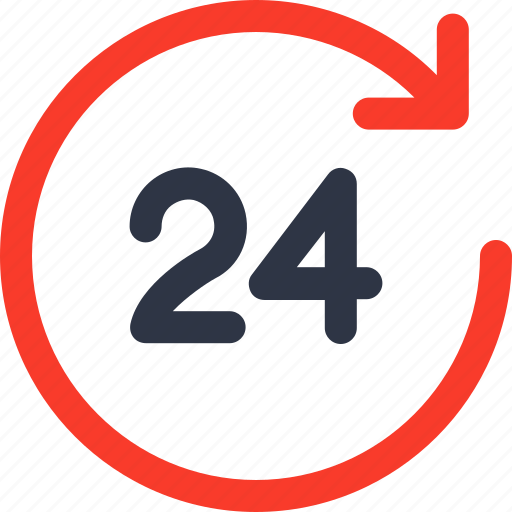 delivery, hours, online, service icon icon
