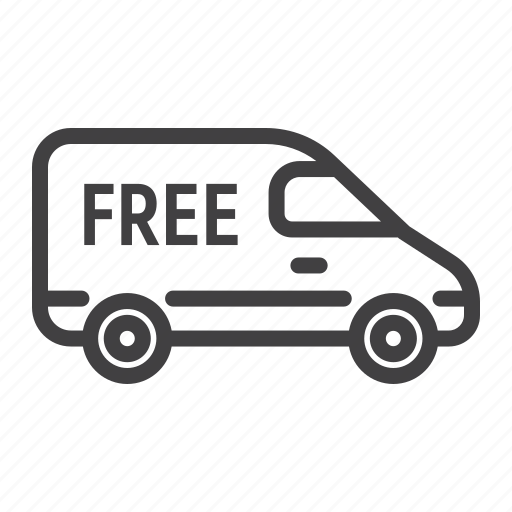 cargo, delivery, free, logistic, shipping, van, vehicle icon