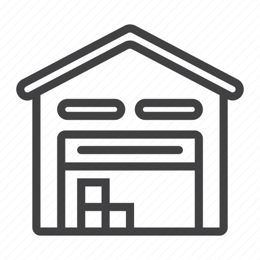 box, building, cargo, delivery, logistic, storage, warehouse icon