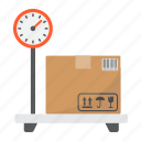 box, delivery, logistic, package, platform, scale, storage icon