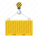 business, cargo, container, crane, delivery, logistic, shipping icon