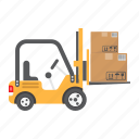 cargo, delivery, forklift, lift, logistic, truck, vehicle
