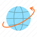 around, delivery, global, globe, shipping, world, worldwide icon
