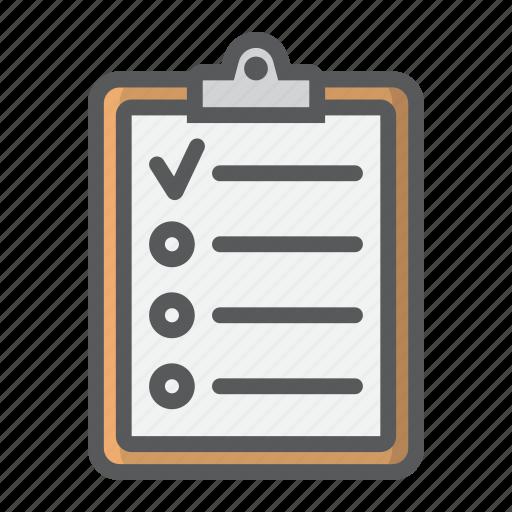 checklist, checkmark, clipboard, form, list, note icon