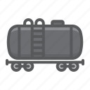 cargo, cistern, delivery, logistic, oil, railway, train icon