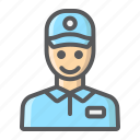 courier, delivery, logistic, man, service, shipping, worker icon