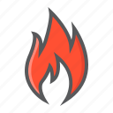 danger, delivery, fire, flammable, hazard, package, sign icon
