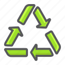 arrow, delivery, eco, recycle, reuse, sign, waste icon