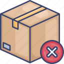 box, cancel, delivery, logistic, package, shipping icon