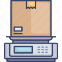 box, logistic, package, scale, shipping, weigh, weight icon