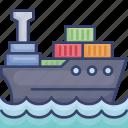 box, cargo, logistic, package, ship, transfer, transportation