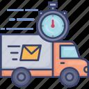deadline, logistic, speed, timer, transfer, transport, truck