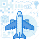 airplane, box, delivery, flight, logistic, package, plane