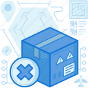 box, cancel, delete, delivery, logistic, package, parcel icon