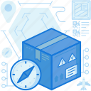 box, compass, delivery, direction, logistic, navigation, package