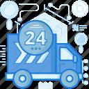 day, full, hour, time, transport, transportation, truck