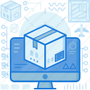 box, computer, logistic, monitor, package, parcel, screen icon