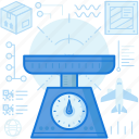 box, delivery, logistic, package, scale, weigh, weight icon