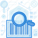 bar, code, delivery, ecommerce, logistic, magnifier, scan