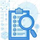 checklist, confirm, find, scan, search, magnifier, clipboard icon