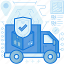 truck, security, protection, confirm, shield, van, transport icon