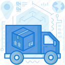 box, delivery, logistic, package, parcel, transport, truck