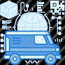 delivery, logistic, package, transport, transportation, van, vehicle