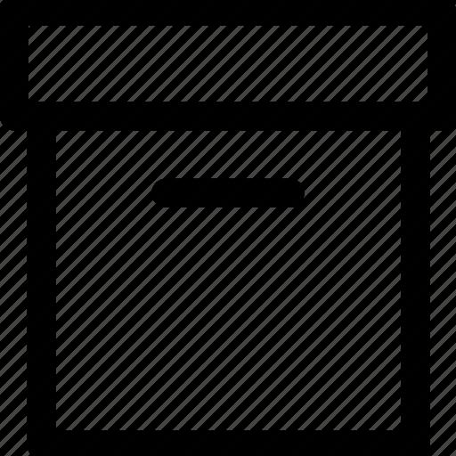 archive, box icon icon