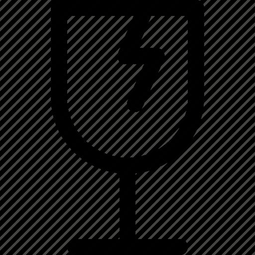break, broken, cargo, cup, glass icon icon