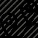 cargo, coordinate, delivery, gps, locate, location, map, marker, pin, route icon icon