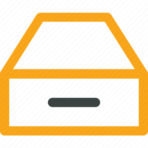 archive, archive drawer, drawer, office icon icon