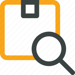 box, delivery, package, scanner, search order, search package icon icon