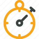 clock, delivery, fast, stop, stopwatch, time, timer, watch icon icon