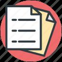 business catalogue, docs, documents, sheets