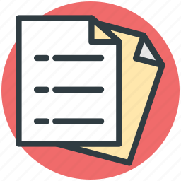 business catalogue, docs, documents, sheets icon
