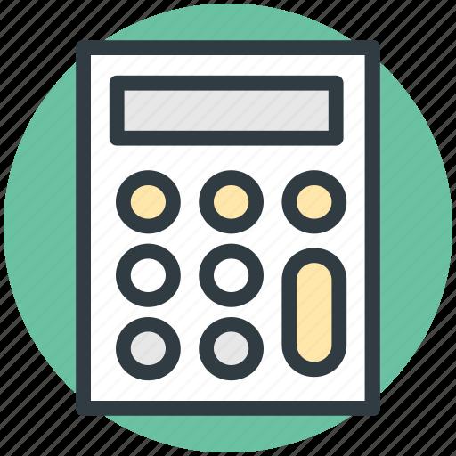adding machine, calc, calculating machine, calculation, calculator icon