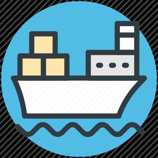 cargo ship, luxury cruise, sailing vessel, shipment, shipping icon