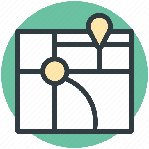 Gps map, location marker, location pointer, map location, mapping icon - Download on Iconfinder
