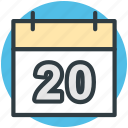 calendar, date, day, wall calendar, yearbook icon
