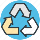 ecology, ecology concept, recycle symbol, recycling, reuseable packaging icon