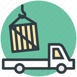 delivery, industry, loading container, lorry, shipping icon