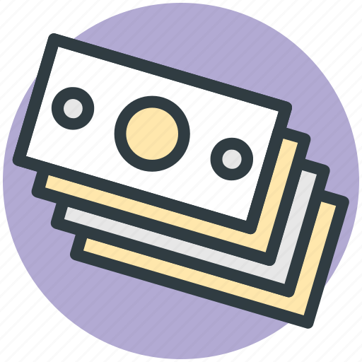 banknotes, dollar, income, money, paper money icon