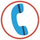 call, communication, phone, receiver, talk icon