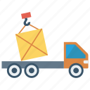 cargo, crane, lifter, parcel, truck icon