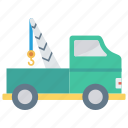 construction, crane, lifter, transport, vehicle icon