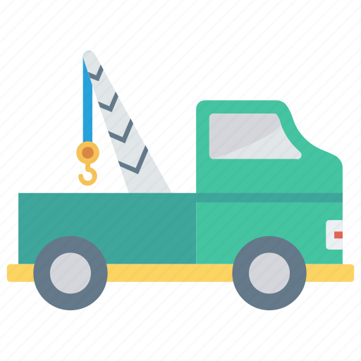 construction, crane, lifter, transport, vehicle icon