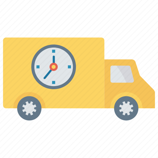 deadline, delivery, fast, truck, vehicle icon