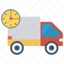 deadline, delivery, transport, truck, van icon
